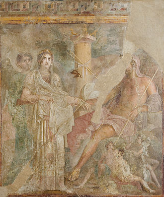 Incest - Roman fresco depicting the wedding of Jupiter and Juno, 1st century AD