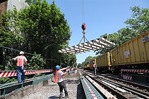 BMT Brighton Line - Replacing of tracks on the BMT Brighton Line