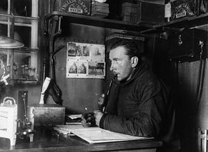 Plate tectonics - Alfred Wegener in Greenland in the winter of 1912–13.