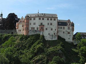 Weilburg - The castle stands out on Weilburg's skyline