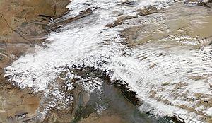 Western Disturbance - A Western Disturbance over northern India and Pakistan in November 2012