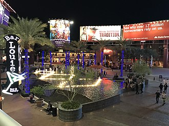 Glendale, Arizona - The fountain area of the Westgate Entertainment District.