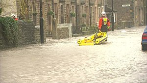 Whalley, Lancashire - Image: Whalley Flooding 2015