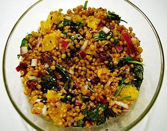 Wheat berry - Image: Wheatberry salad