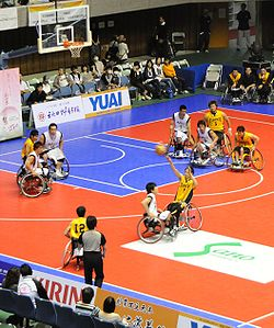 Wheelchair basketball game in Japan, 2009. Image: STB-1.