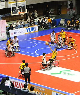 Wheelchair basketball basketball played by people in wheelchairs