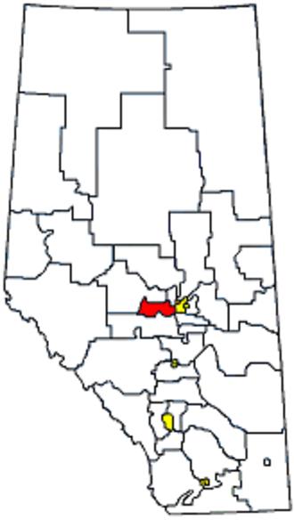 Stony Plain (electoral district) - Image: Whereisstonyplain