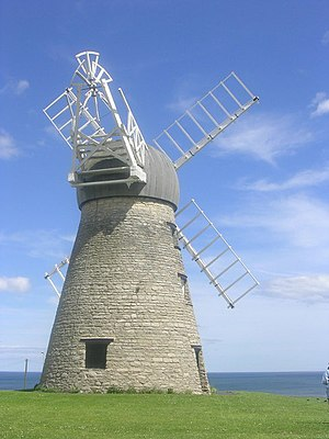 Whitburn, South Tyneside - Whitburn windmill, looking out to sea.