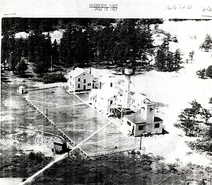 Great Lakes Shipwreck Museum - Aerial view of the Whitefish Point Light Station on July 21, 1947.