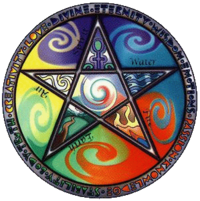 The pentacle and the five elements of the cosmos