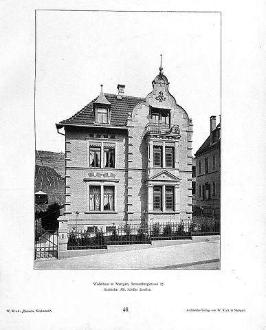 file wilhelm kick einfache neubauten stuttgart 1890. Black Bedroom Furniture Sets. Home Design Ideas