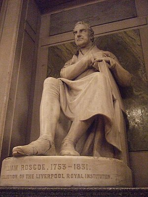 William Roscoe - Statue of William Roscoe at St. George's Hall, Liverpool by Chantrey