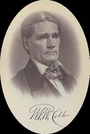 Williamson Robert Winfield Cobb - Portrait of William Robert Winfield Cobb with his signature