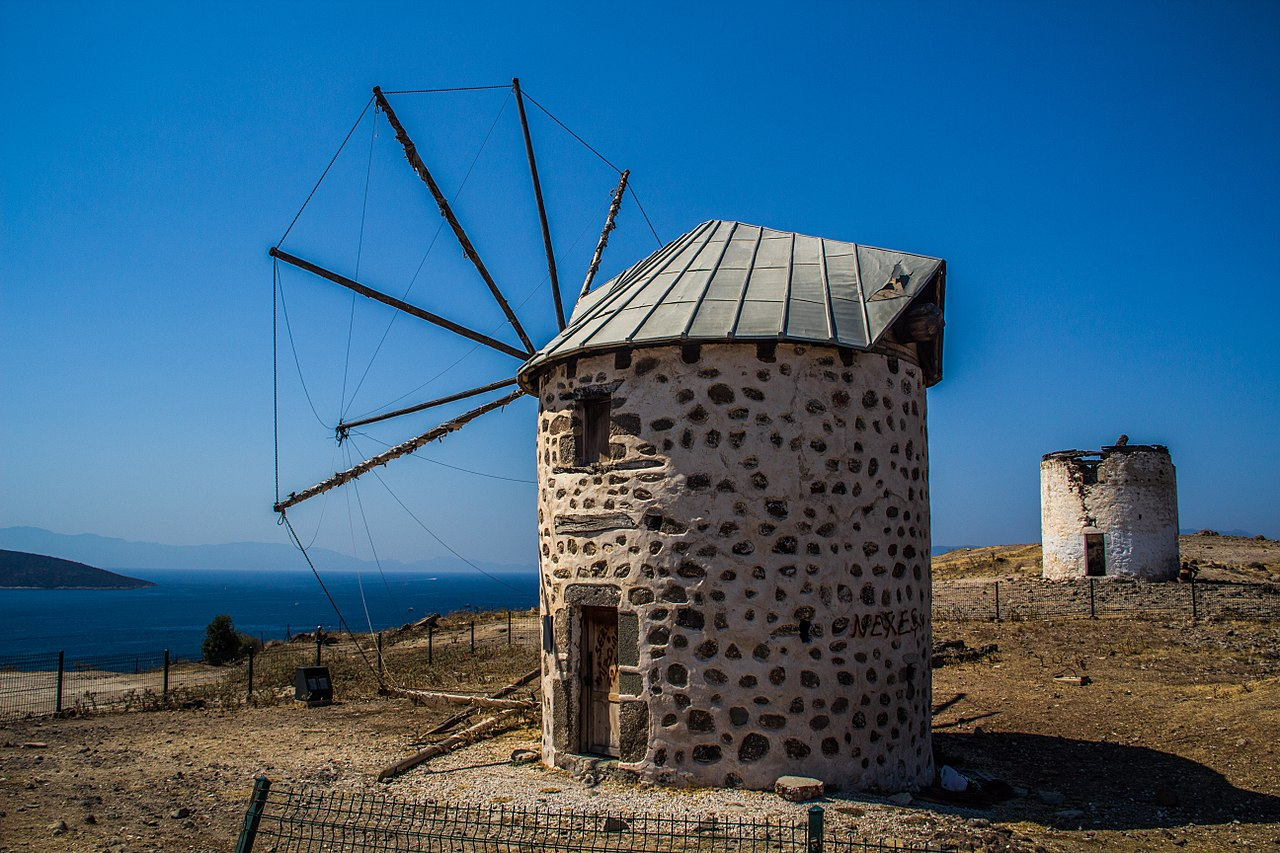 The charming Old windmills of Bodrum