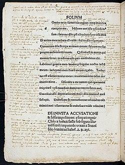 Wolfenbuetteler Psalter Explanation of Psalm 6 by Martin Luther (Herzog August Bibliothek) .jpg