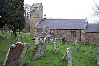 Wolvesnewton village in United Kingdom