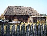Wooden barn in Bartoszówka, Poland