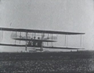 Wright Model A - Wilbur Wright flying a Model A in France 1909.