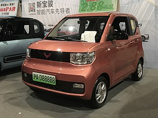 Wuling Hongguang Mini EV Chinese electric mini-car
