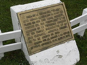 Luis Pardo - Honourary plaque in Puerto Williams