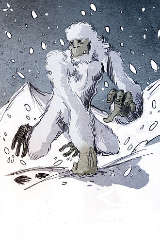 Yeti - An illustration of a Yeti