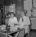 Yitzhak Ben Zvi, de tweede president van Israel van 1952 tot 1963, en zijn echtg, Bestanddeelnr 255-4233.jpg