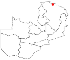 Location of Mpulungu in Zambia