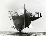 Zeppelin LZ 4 with stabilizers, 1908