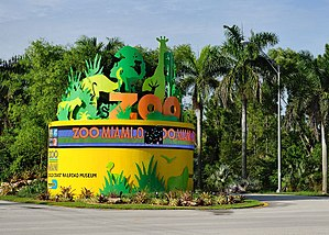 Zoo Miami - Entrance from State Road 992.