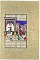 """Nushirvan Greets the Khaqan's Daughter"", Folio 633v from the Shahnama (Book of Kings) of Shah Tahmasp MET DP107183.jpg"