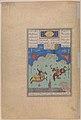 """The Fifth Joust of the Rooks- Ruhham Versus Barman"", Folio 342v from the Shahnama (Book of Kings) of Shah Tahmasp MET DP245147.jpg"