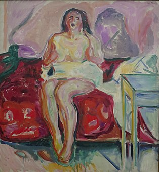 'Morning Yawn' by Edvard Munch, 1913, Bergen Kunstmuseum.JPG