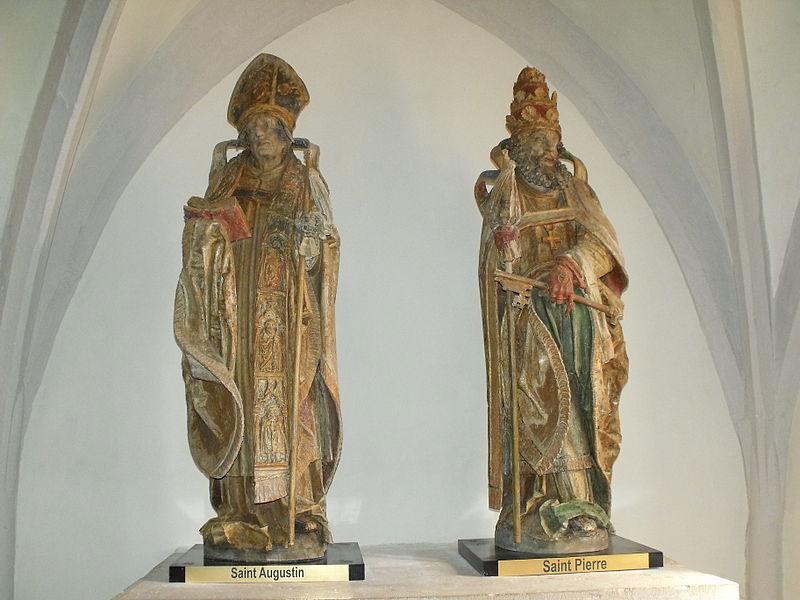 Église Saint-Léger de Chaux-lès-Châtillon: statues de Saint Augustin et Saint Pierre