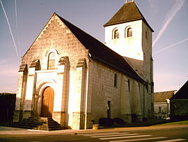The church of Saint Pierre, in Vou