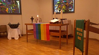 Homosexuality and Lutheranism - Ecumenical worship service at the Emmaus Church in Berlin, Germany.