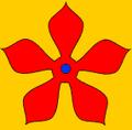 Ötöslevél (,heraldika) fr -- quintefeuille.PNG