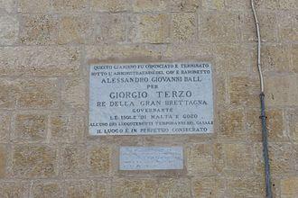 Ġonna tal-Kmand - The inscription from the Żabbar garden