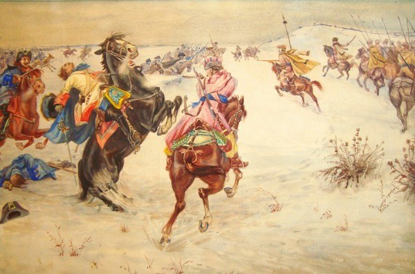 Бой казаков Харьковского полка со шведами под Веприком