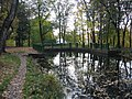 Вид в парке Лесного института Плотина на Длинном пруду.jpg