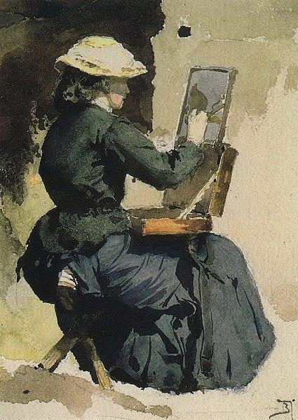 File:В. Д. Поленов. Портрет Н.В.Якунчиковой (Поленовой) за этюдом. 1882.jpg