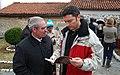 Министър Кристиан Вигенин и Никола Найденов, кмет на село Добърско (13213345943).jpg