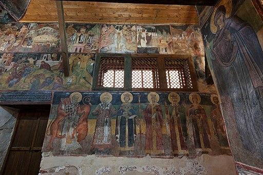 Несебыр Церковь Св Стефана Интерьер Восточная часть южной стены