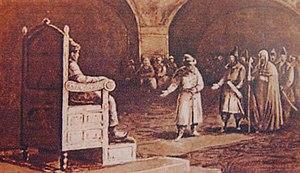 Alexander I of Kakheti - Ivan III of Russia receives the Georgian embassy in 1492.