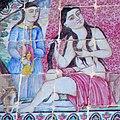 نقش برجسته زن ایرانی بر روی کاشی.jpg