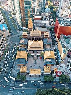 Jingan Temple building in Jingan Temple, China