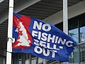 -2019-04-25 'No fishing sell out flag', Brixham Harbour.JPG