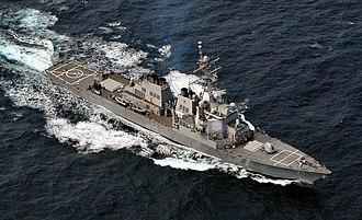 USS Ross (DDG-71) - Image: 051024 N 4374S 010 USS Ross (DDG 71) in the Atlantic Ocean during UNITAS 47 06