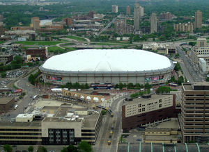 The Hubert H. Humphrey Metrodome in Minneapoli...