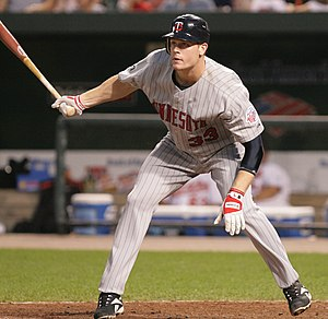 Justin Morneau - Morneau batting for the Minnesota Twins in 2006