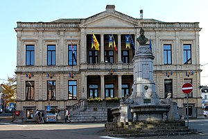 Pierre-Joseph Redouté - The fountain erected in honor of Pierre-Joseph Redouté in Saint-Hubert, Belgium.